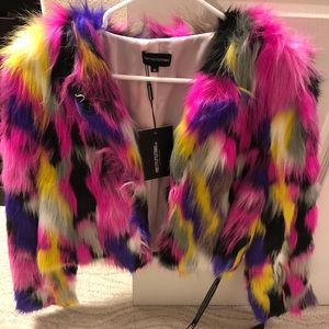 Furry colorful jacket